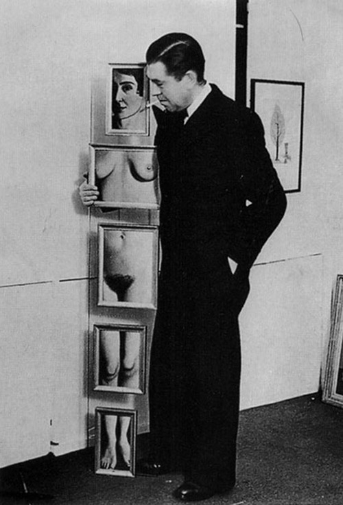 René Magritte With His Wife Georgette