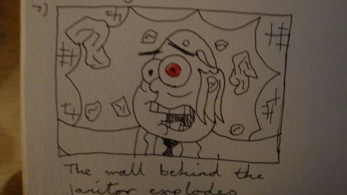 This is the finished storyboard for my segment. Just to point out, the solid arrows are for the body movement and the broken arrows are the lights.