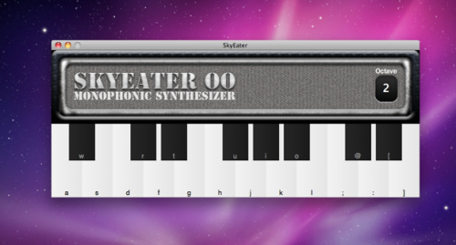 skyeater lets you compose the song of the demise of taste and all that is good about the mac platform in a classy and eye-ravaging way.