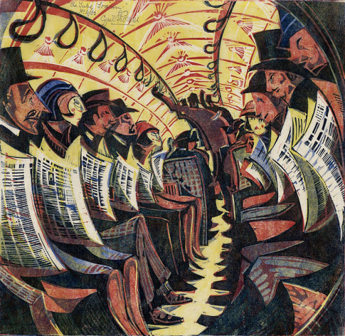 Cyril E. Power, The Tube Train, 1934. via Weimar: Trainspotting