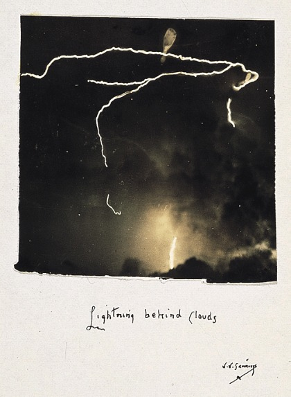 whitehotel:  William M. Jennings, Lightning behind clouds (1885)