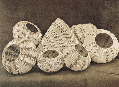 stilllifequickheart:  Edward S. Curtis Washo Baskets  1924