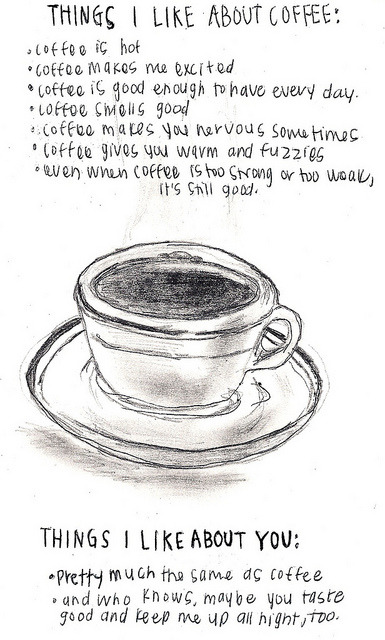 tiebutton:  things I like about coffee…