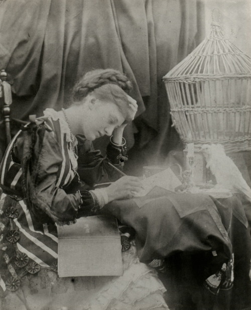 liquidnight:Julia Margaret Cameron Our May,1870,Albumen print From Julia Margaret Cameron's Women