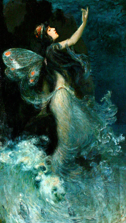 """Metamorphosis of Beauty"" by Paul Swan - (1907)   (Via Grapefruit Moon Gallery)"