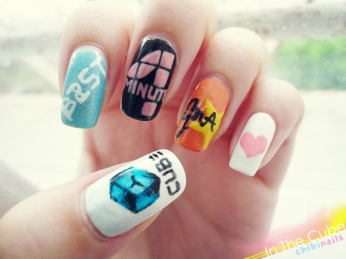 CUBE Family nails with BEAST, 4MINUTE & G.NA in conjunction to DiGi Live Kpop Party this coming Wednesday. omgomg I can't wait to see them ;____;;;