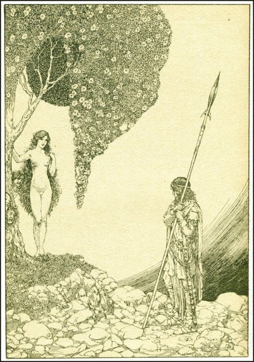 Willy Pogany ~ Parsifal by Richard Wagner ~ Crowell ~ 1912 ~ via Golden Age Comic Book Stories Illustration from Part V - The Spear