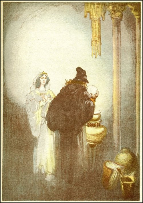 Willy Pogany ~ Parsifal by Richard Wagner ~ Crowell ~ 1912 ~ via Golden Age Comic Book Stories Illustration from Part III - Kundry