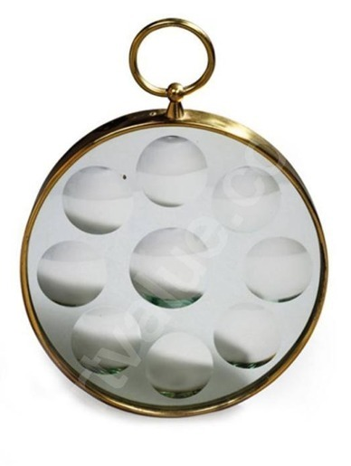 Beautiful:))Thank you so much! lushlight:  Fornasetti-Optical Mirror Brass Framed- 12 ins Diameter with label to rear- ca 1960s via galere This ones for Yama
