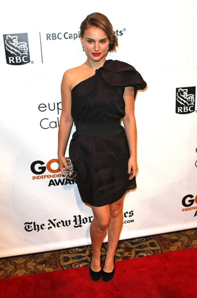 Natalie Portman at Gotham Independent Film Awards wearing  Lanvin for H&M