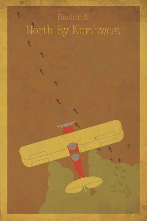 North by Northwest alternative movie poster.