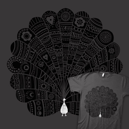 Peacock at Night available at Threadless
