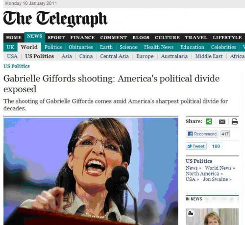 The Telegraph chose an excellent pic for their Gabrielle Giffords story