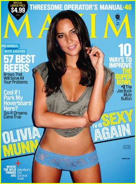 Olivia Munn Covers 'Maxim' February 2011 | JustJared