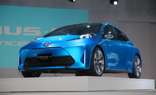 Toyota Prius C at the 2011 Detroit Auto Show.