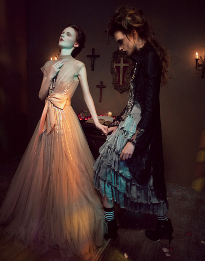 Gothic Chapel fashion photography by Melissa Rodwell via www.fashionphotographyblog.com
