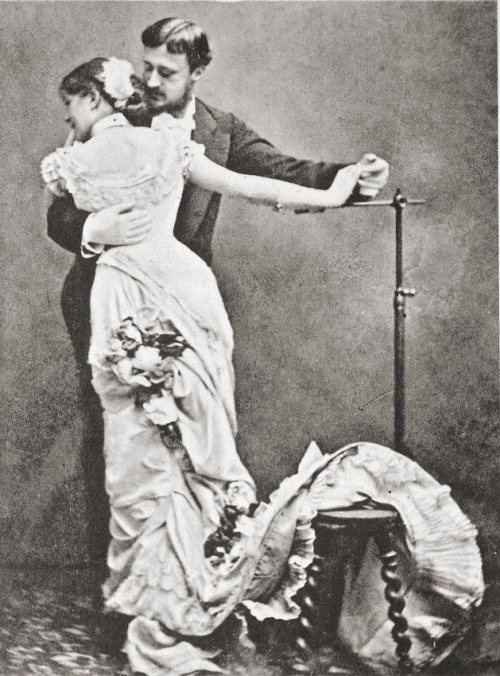 turnofthecentury:  Photographer dancing with his model. France, c.1880 via servatius