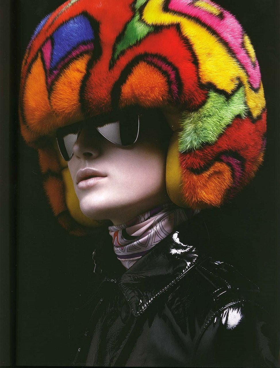 Plastique, October 2007Fur helmet by Søren Bach