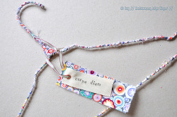 craftythingsineedtodo:  Between The Lines: DIY Colorful Wire Clothes Hanger