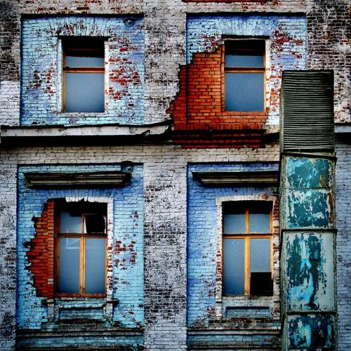 charzblue:  Blue reminiscences., architecture uploaded by ademiromano