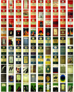 thingsorganizedneatly:  Penguin Book Covers. photo credit
