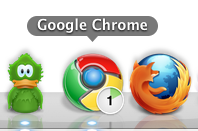 Google Chrome - Active download progress indicator & counter.