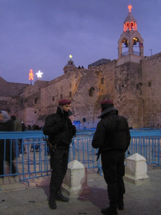 I had really high hopes for this photo. Orthodox Christmas in Bethlehem, Palestinian soldiers, the steeples of all the denominations that scuffle over the Church of the Nativity lit up for the holiday in the background. But it just doesn't do it for me. You know what did do it for me? This book. 512 pages describing conflict over Jerusalem since King David. Did you know that a fight over the keys to this church led to the Crimean War? 1,700,000 soldiers, 500,000 casualties. Did you know that none of the denominations in the Church of the Holy Sepulcher have keys to it? None of them trust that they wouldn't be locked out. A local Muslim family has been in charge of the keys since 1192, ever since Saladin gave them that responsibility.