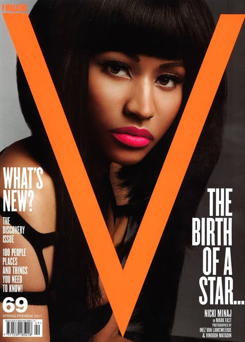 Nicki Minaj covers the latest issue of V Magazine..LOVE her makeup in this one..what do you think? Source