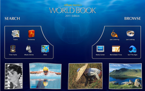 an 'immersive' interface for a world book? makes me want to 'immerse' my head in liquid nitrogen