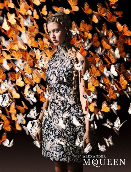 The Cut reports that Lindsey Wixson is the face of Alexander McQueen Spring 2011. (Image via The Cut)