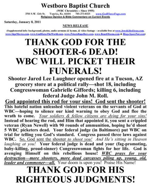 The WBC makes me sick. Literally, I feel ill reading this.