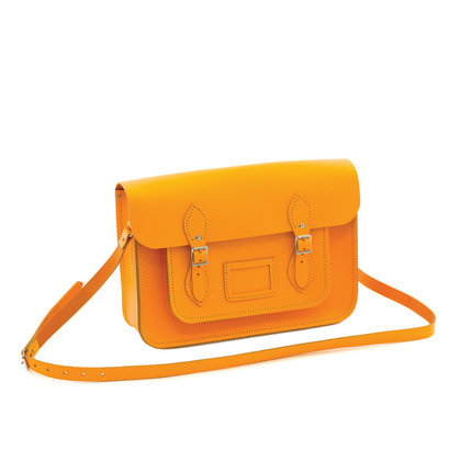 Large Leather Satchel - Yellow