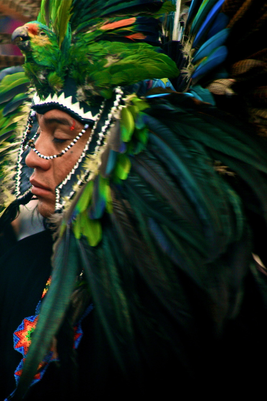 Danza Guerrera Azteca - Zócalo México DF Photo by Peter Ponk From the Series: Querido y Lindo México