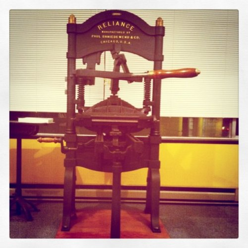My letterpress class starts today.  (Taken with instagram)