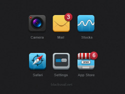 Dribbble - 6 Icons For Iphone by Black Snail