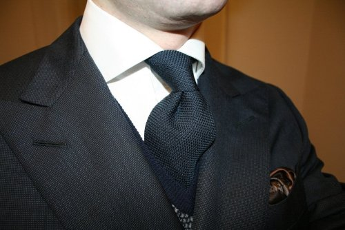 Blue tie - staple.