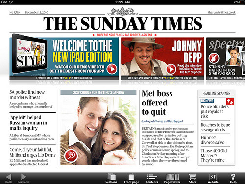 Can Apple make newspapers cool? I think if anything can, this marriage between Apple's iPad and Rupert Murdoch's The Times newspaper is well-placed in terms of their marketing and branding… both offer products and services that aren't competitive on price but sell a lifestyle that (if successfully authentic and value-added) people will be happy to pay for. via Influxinsights