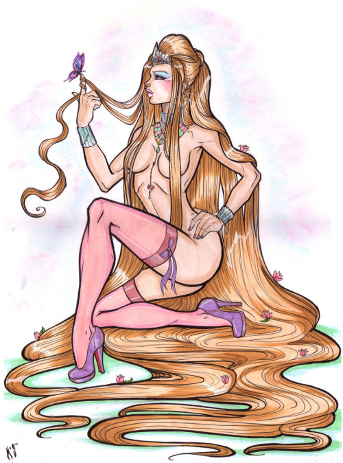 Rapunzel by CrimsonSea