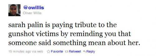 Palin pays tribute via @owillis