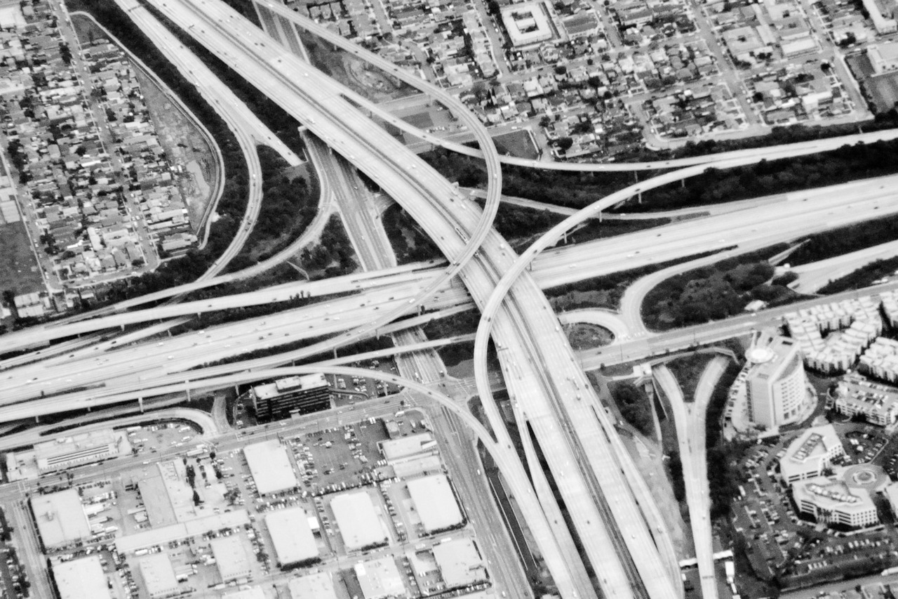 terrysdiary:  LA freeway from above.