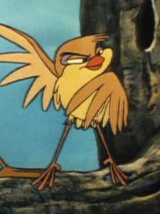 Your Obscure Disney Character of the Day is Dinky the Finch from 1981's The Fox and the Hound. His best friend is Boomer the Woodpecker, his mortal enemy is Squeaks, the caterpillar, and his main goal in life is to catch and destroy aforementioned caterpillar. He was voiced by character actor Dick Bakalyan.