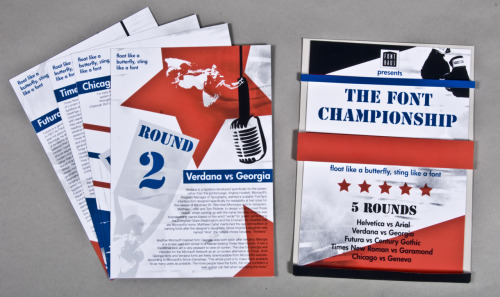 The Font Championship - Font Promo Cards
