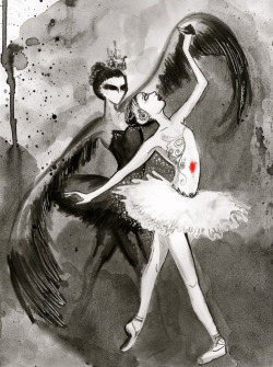 theballetbag:  More Black Swan Fan Art! :)
