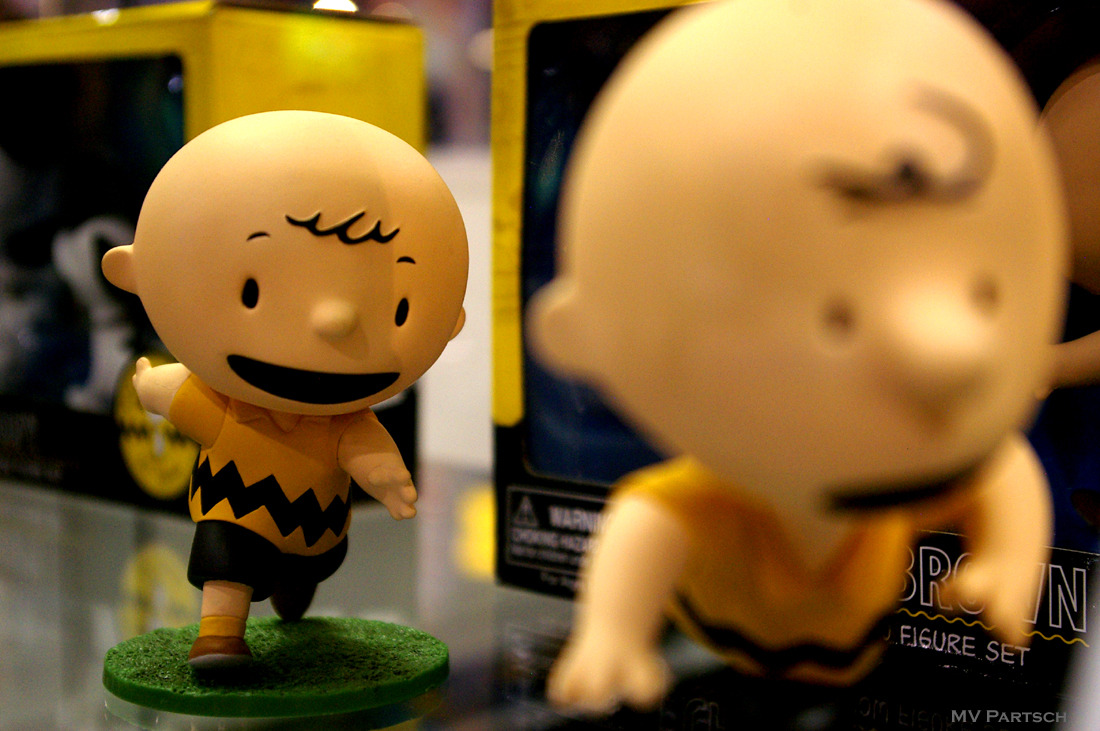 Charlie Brown: 1950. Comic-Con. San Diego. 2010. Dark Horse Comics Pavilion. Peanuts: Then and Now Display.
