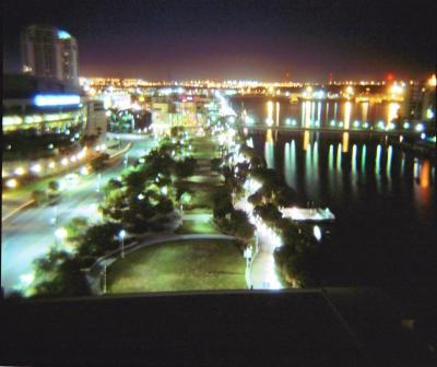 Tampa Bay at night- long exposure, about 15 seconds.