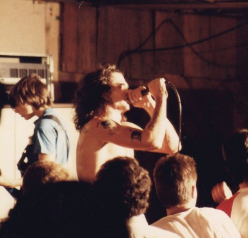 wolfgangismyrealname:  Henry Rollins Black Flag at JB's Down in Kent, Ohio. Oct. 13, 1984. apparently at this show, Henry was handing out porn to kids.