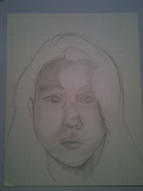Self portrait 2011- WIP. I CAN STILL DRAW  I haven't picked up pencil and paper in probably over a year ish and well- I still can draw and better- realistically closer.