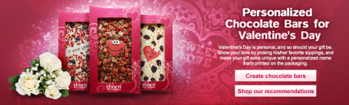 Give your loved ones personalized chocolate bars for Valentine's Day!