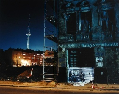 "urbanmessss:  Shimon Attie, Mulackstrasse 37 Berlin (1932) 1991 ""What the war spared"""