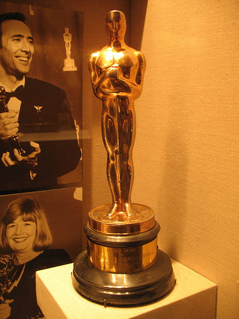 Carmine Coppola's Oscar for Best Music, Original Dramatic Score for The Godfather II (shared with composer Nino Rota) (by stayforthecredits) Taken at the Rubicon Estate, Napa Valley (formerly Niebaum-Coppola Winery). They've got a pretty neat mini filmmaking museum with magic lanterns and zoetropes too.